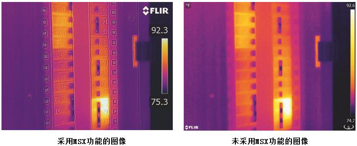 红外热像仪FLIR AX8拍摄的成像图片