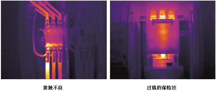 FLIR AX8热像仪拍摄的热图