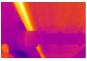 传送带轴承异常红外热图