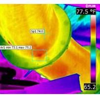 炼油设备腐蚀部位的红外热成像仪检测